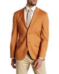 Spurr By Simon Spurr - Tan Two Button Notch Lapel Wool Sport Coat - Lyst