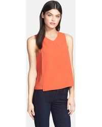 Trouvé - Asymmetrical V-neck Tank - Lyst