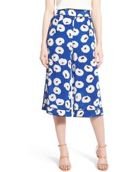 Chelsea28 Nordstrom - Floral Print Silk Culottes - Lyst