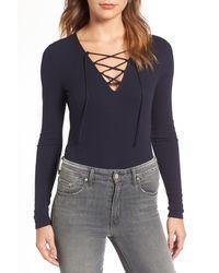 Trouvé - Lace-up Bodysuit - Lyst