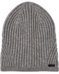 John Varvatos - Wool Rib Knit Slouch Hat - Lyst