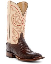 Lucchese - Genuine Hornback Caiman Crocodile Cowboy Boot - Lyst