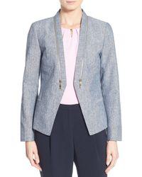 Ivanka Trump - Zip Detail Linen & Cotton Jacket - Lyst