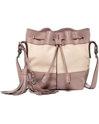 Isabella Fiore - Bowery Leather Bucket Crossbody Bag - Lyst