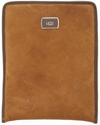 UGG Jane Leather Tablet Sleeve - Brown