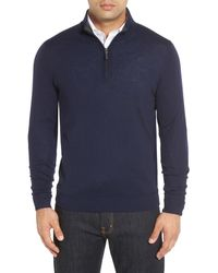 John W. Nordstrom - Merino Wool Quarter Zip Jumper (big) - Lyst