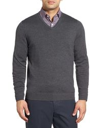 John W. Nordstrom - Merino Wool V-neck Jumper (big) - Lyst