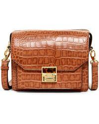 Ivanka Trump - Hopewell Top Zip Leather Shoulder Bag - Lyst