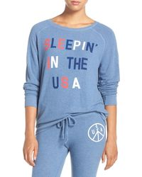 Junk Food - Sleeping In The Usa Crew Neck Pullover - Lyst