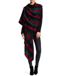 Peach Love California - Plaid Asymmetrical Draped Vest - Lyst