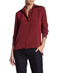 Jordan Alexander - Concealed Button Silk Shirt - Lyst