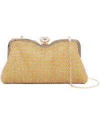 Cara - Gold Sequin Clutch - Lyst