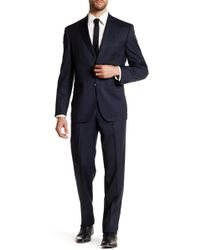 JB Britches - Navy Glenplaid Wool Flat Front Side Vent Suit - Lyst