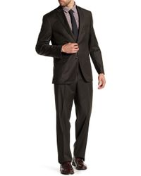JB Britches - Brown Sharkskin Wool Flat Front Side Vent Suit - Lyst