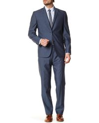 JB Britches - Navy Wool Two Button Notch Lapel Standard Fit Suit - Lyst