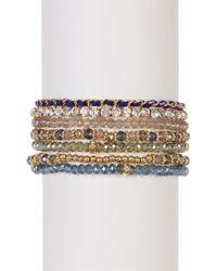 Joe Fresh - Multi Strand Beaded Bracelet - Lyst