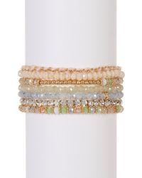 Joe Fresh - Multi Row Beaded String Bracelet - Lyst
