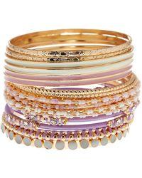 Joe Fresh - Multi Color Multi Bangle Bracelet - Lyst
