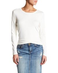 In Cashmere | Long Sleeve Fine Knit Crew Neck Shirt | Lyst