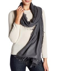 In Cashmere - Frayed Cashmere Scarf - Lyst