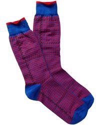 Jared Lang - Double Herringbone Crew Socks - Lyst