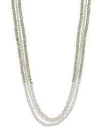 Lucky Brand - Multi Layer Beaded Necklace - Lyst