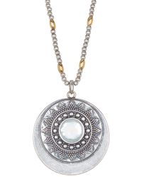Lucky Brand - Mother Of Pearl Pendant Necklace - Lyst