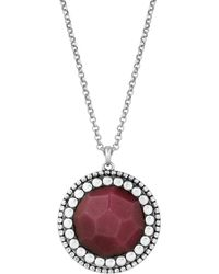 Lucky Brand - Red Dyed Jade Pendant Necklace - Lyst