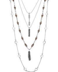 Lucky Brand - Lucky Layers Necklace - Lyst