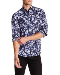 Coogi - Paisley Print Regular Fit Shirt - Lyst