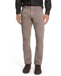 Jean Shop - Slim Fit Selvedge Twill Five-pocket Pants - Lyst