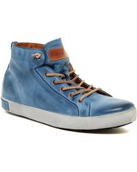 Blackstone - High Top Leather Trainer - Lyst