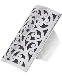 Lois Hill | Sterling Silver Classic Hand Carved Filigree Shield Ring - Size 5.5 | Lyst
