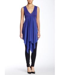 In Cashmere - Chiffon Insert Sleeveless Silk Blend Tunic - Lyst