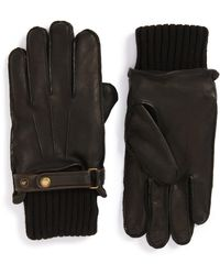 John W. Nordstrom - Knit Cuff Leather Gloves - Lyst