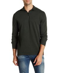 Agave | Perry Long Sleeve Zip Mock Neck Flat Back Pullover | Lyst