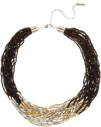 Kenneth Cole - Beaded Multi Strand Short Necklace - Lyst