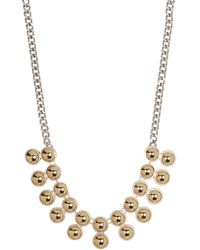 Kenneth Cole - Two-tone Double Row Necklace - Lyst