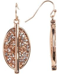 Kenneth Cole - Pave Oval Drop Earrings - Lyst