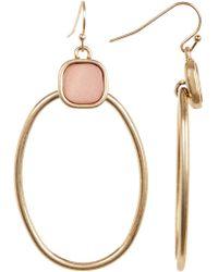 Kenneth Cole - Cushion Stone Oval Drop Earrings - Lyst