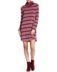 Peach Love California - Turtle Neck Sweater Dress - Lyst