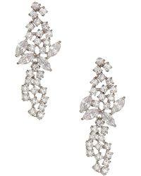 CZ by Kenneth Jay Lane - Cluster Floral Drop Earrings - Lyst