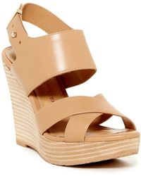 Elaine Turner | Kinzy Open Toe Wedge Sandal | Lyst