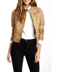 Lavand - Faux Leather Jacket - Lyst