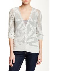 Lavand - Feather Long Sleeve Cardigan - Lyst