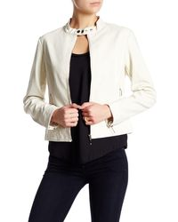 Lavand - Perforated Faux Leather Moto Jacket - Lyst