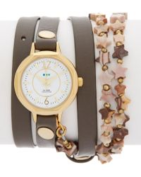 La Mer Collections - Women's Metallic Gold Tone Leather Wrap Watch - Lyst