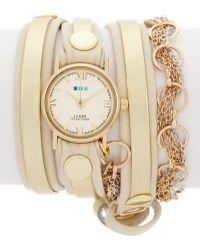 La Mer Collections - Women's Collette Leather & Chain Wrap Bracelet - Lyst