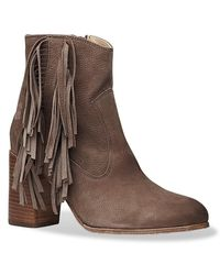 Liebeskind Berlin - Suede Fringe Heeled Ankle Boot - Lyst