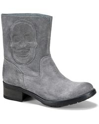Liebeskind Berlin - Suede Skull Patch Ankle Boot - Lyst